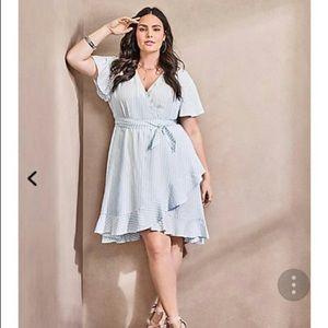 Torrid : striped wrap dress in size 2